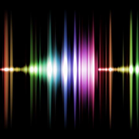 geluid: Een afbeelding van een mooie en kleurrijke geluid grafische
