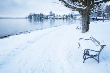 An image of the Starnberg Lake in Bavaria Germany - Tutzing Feb. 2013 photo