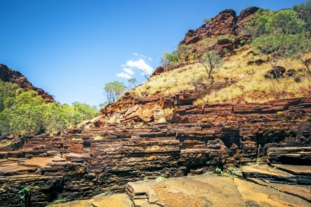 western australia: An image of the beautiful Dales Gorge in Australia