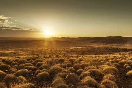 australian landscape: An image of a beautiful sunset in Australia