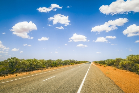 An image of a nice road to the horizon Stock Photo