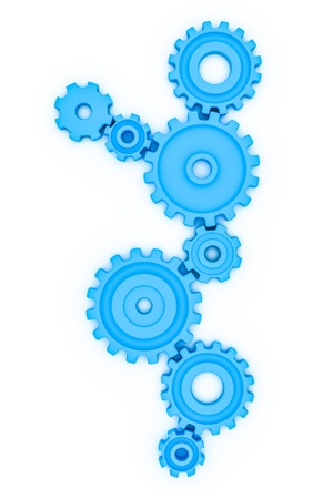 gearshift: An image of a blue gears background