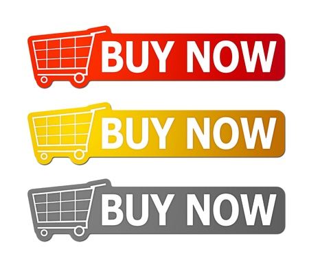 Three buy now signs with clipping path photo