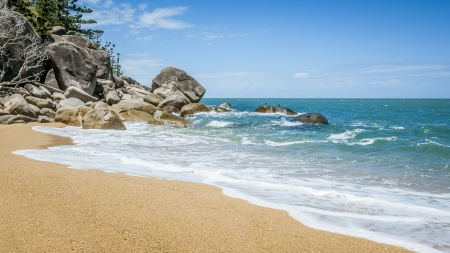 magnetic stones: An image of the Magnetic Island Australia Stock Photo