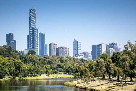 melbourne australia: An image of the nice skyline of Melbourne