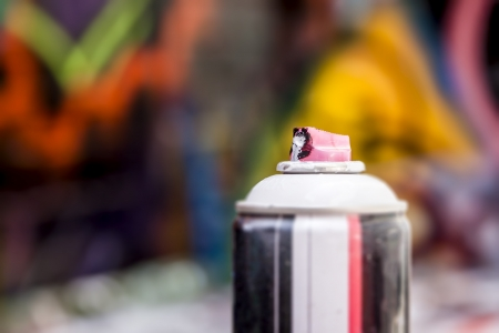 aerosol: a used graffiti spray