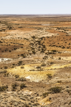 bush pepper: An image of the great Breakaways at Coober Pedy Australia Stock Photo
