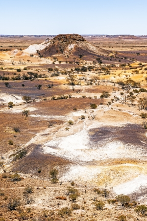 dog rock: An image of the great Breakaways at Coober Pedy Australia Stock Photo