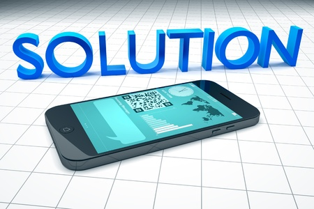 An image of a smart phone solution Stock Photo - 18245011