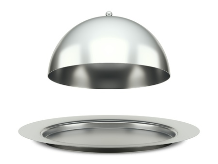 An image of a dining silver cloche platter photo