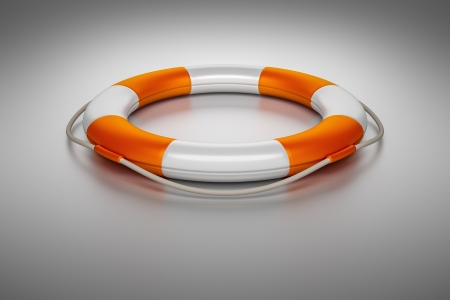 ring life: An image of an orange white life saver
