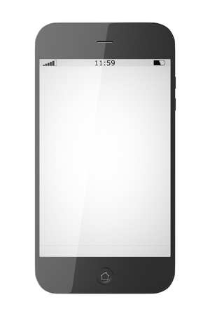 An image of a smart phone isolated on white background photo