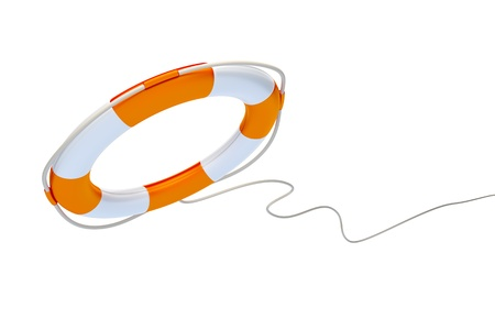 saver: An image of a life saver on a white background