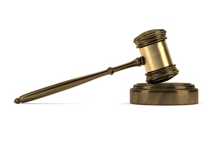 An image of a wooden judge gavel photo