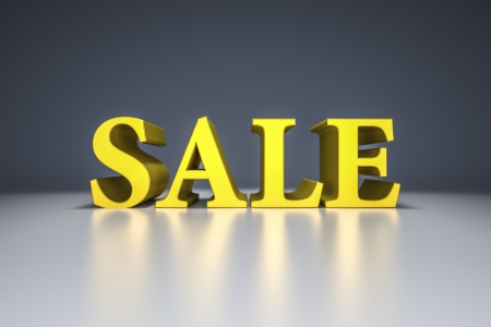 An image of a big yellow sale sign