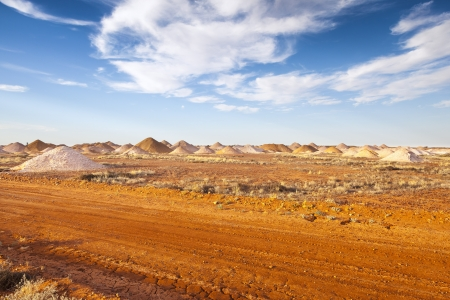 ranges: An image of the mining in Coober Pedy Australia