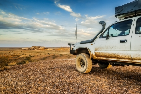 An image of the great Breakaways at Coober Pedy Australia Stock Photo