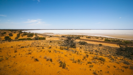 An image of a dry lake in south Australia photo