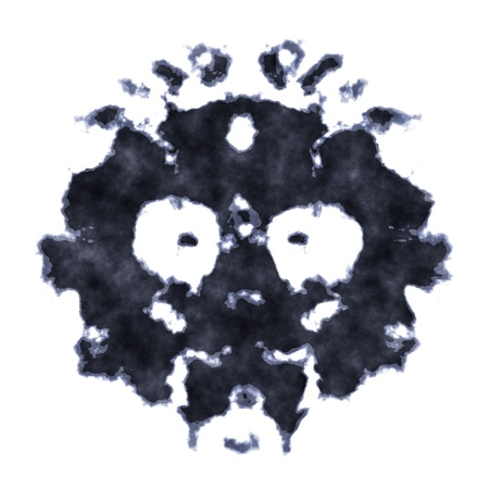 test pattern: An image of a Rorschach inkblot test Stock Photo