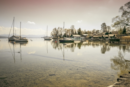 An image of the Starnberg Lake in Bavaria Germany - Tutzing Stock Photo - 19313846