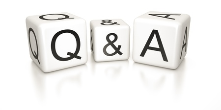 An image of black and white questions and answers dice photo