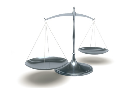 gerechtigheid: Een afbeelding van een boete libra op een witte achtergrond
