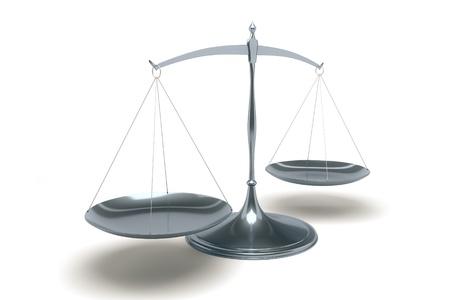 balanza en equilibrio: Una imagen de una multa libra sobre un fondo blanco
