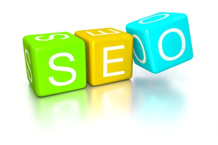 An image of the search engine optimization dice Stock Photo - 19469639