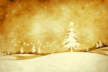 An image of a nice grunge golden christmas background photo