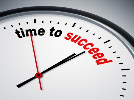 An image of a nice clock with time to succeed Stock Photo
