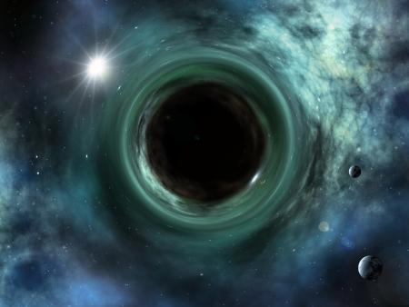Een afbeelding van een mooie ruimte singulariteit zwart gat