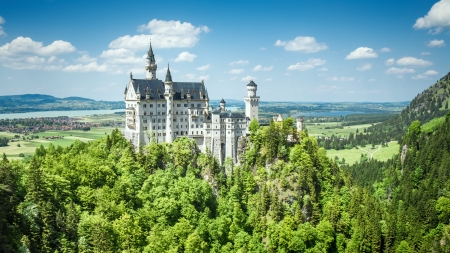 The fairytale Castle of King Ludwig the 2nd Neuschwanstein in Bavaria Germany
