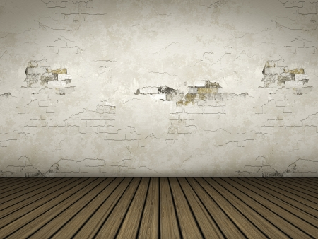 wood floor: An empty room background for your own content