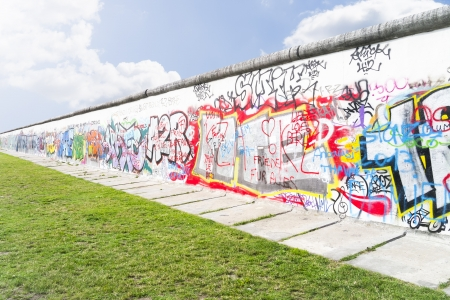 socialism: An image of the Wall in Berlin Germany Editorial