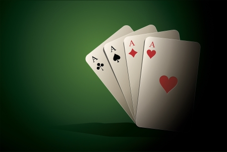 An image of a nice poker cards background Vector