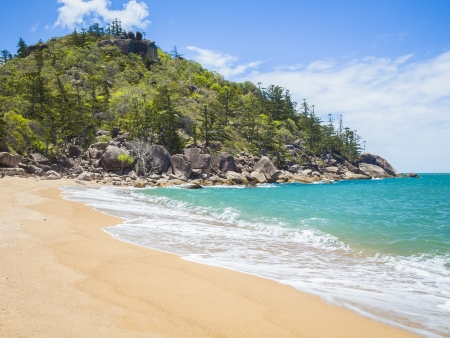 barrier island: An image of the Magnetic Island Australia Stock Photo