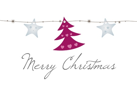 An image of a nice Merry Christmas Card Vector