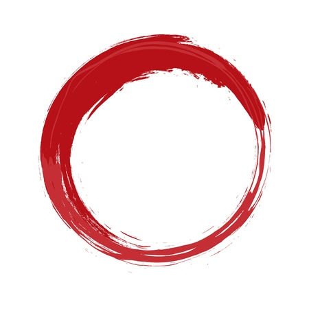 An image of a painted red circle 版權商用圖片