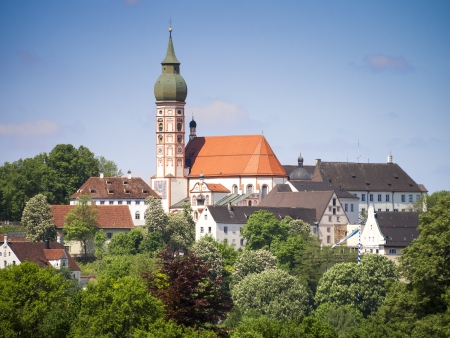 monastery nature: An image of the nice Monastery in Andechs Bavaria Germany