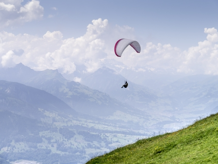 An image of a paraglider at Beatenberg Switzerland photo