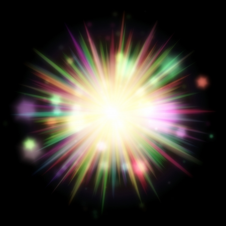 An image of a nice and colorful sunburst photo