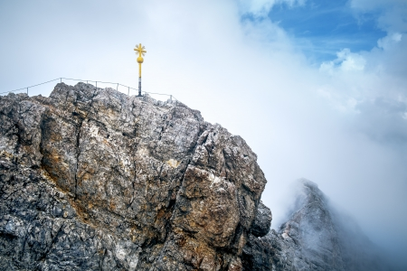 An image of the Zugspitze summit in a cloudy mood photo
