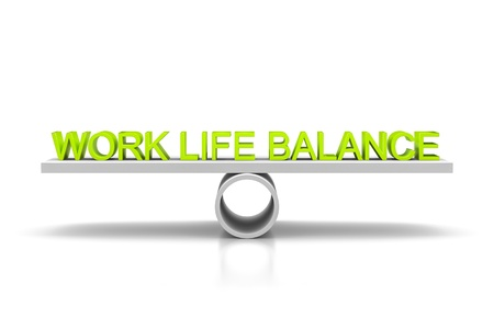 A libra with the green words work life balance photo