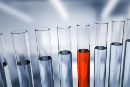 clinical research: An image of some test tubes in the laboratory