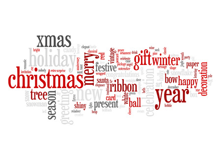 An image of nice Christmas text cloud photo