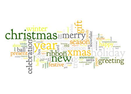An image of nice Christmas text cloud