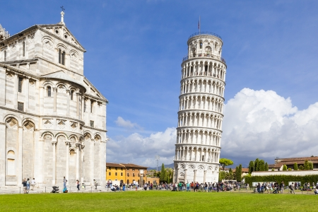 leaning tower of pisa: An image of the great Piazza Miracoli in Pisa Italy Editorial