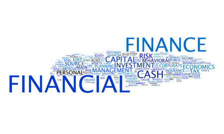 bank statement: An image of a nice financial text cloud Stock Photo