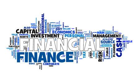 Una imagen de una nube de texto financiera