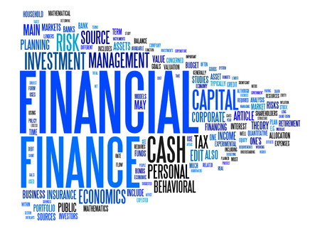 An image of a nice financial text cloud photo